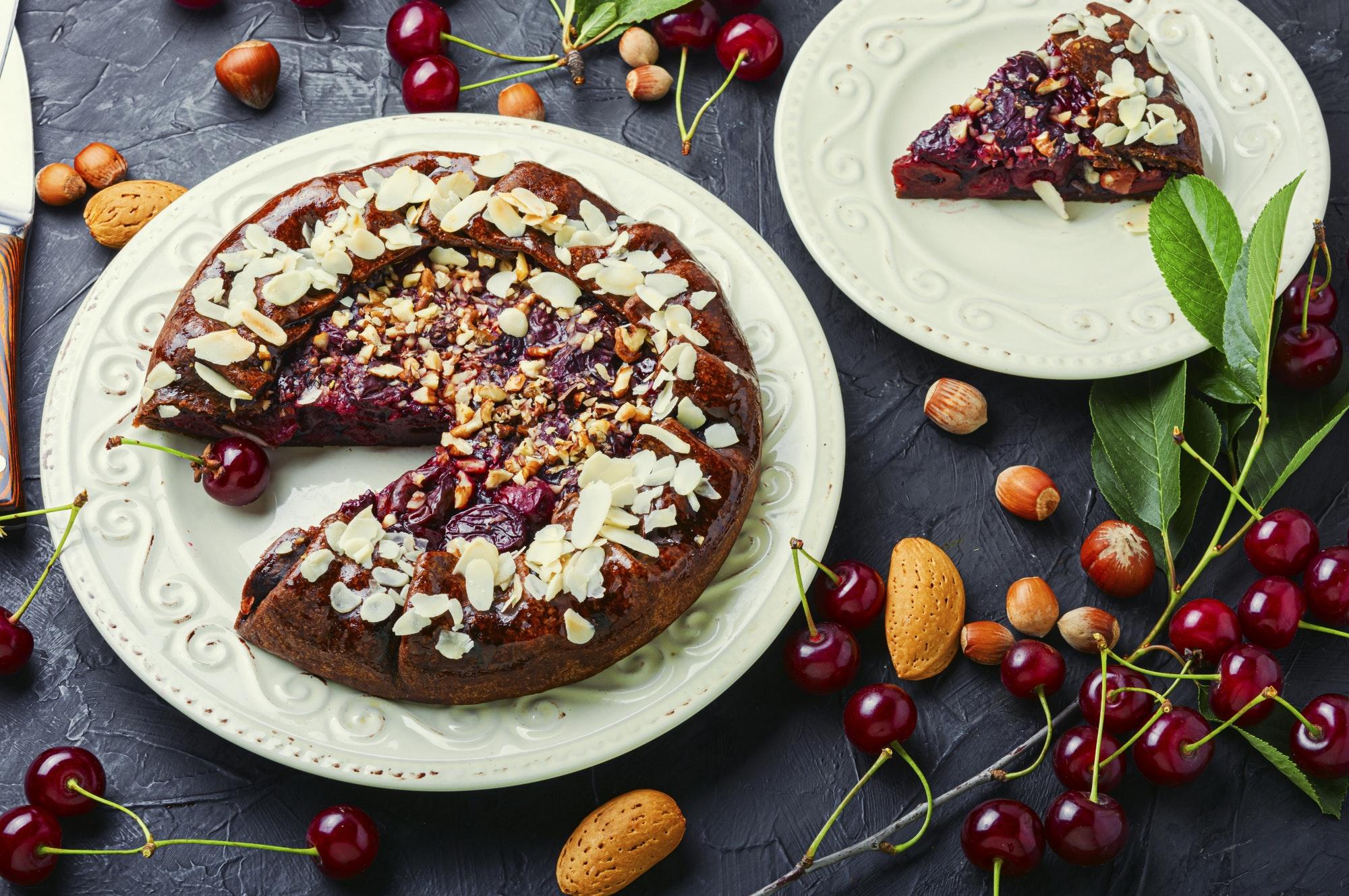 Cherry chocolate cake.