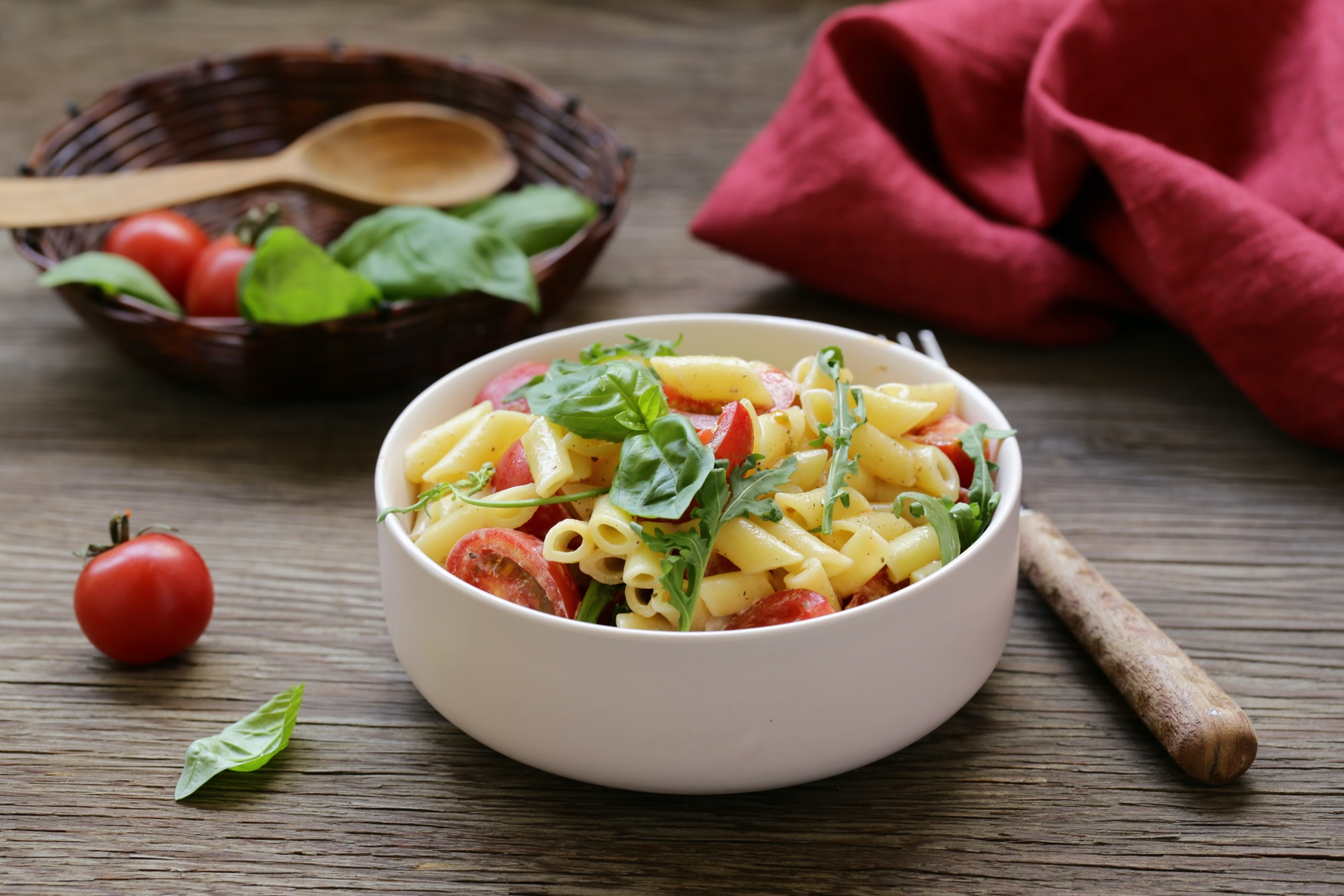 Salad with Pasta Penne